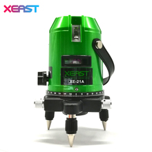 XEAST XE-21A New 5 Lines 6 Points Green Laser Level 4V 1H 360 Rotary Self Leveling Outdoor Tools Tilt Function(China)