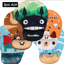 Cartoon Animal Totoro/Cow/Monkey 3D Soft Mouse Pad Mat Cute Gaming Wrist Rest For Dota Size 240*190*3MM(China)