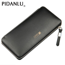 Leather wallet long big capacity quality assurance leather male clutch large purse man money bag best birthday gift