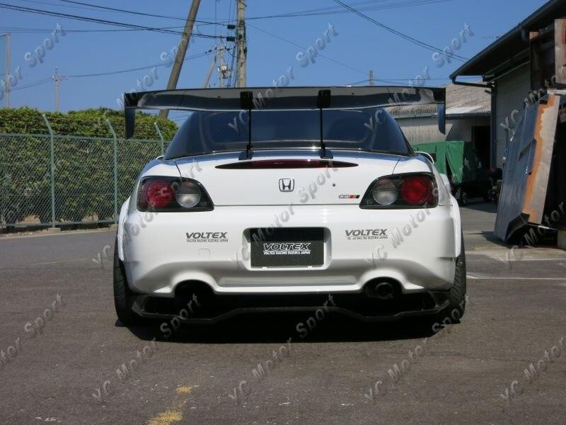 Universal Voltex Type 7 SWAN NECK Rear GT Wing Spoiler FRP (50)