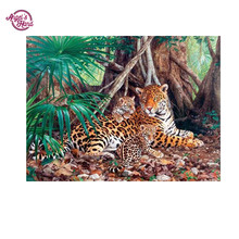 ANGEL'S HAND Diamond Embroidery full canvas painting leopard 5d diy diamond painting diamond pattern