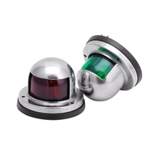 Marine Boat Yacht Stainless Steel Red and Green Bow LED Navigation Lights(China)