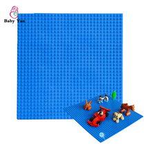 New Version Small Blocks Building DIY Baseplate 32*32 Dots Base plate Size 25*25cm Toys Compatible with Legoe Brick DIY Toys
