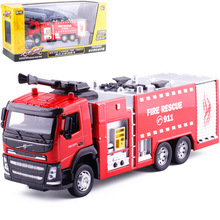 High simulation 1:32 alloy fire rescue, engineering car, Volvo car, original packaging gift box,free shipping