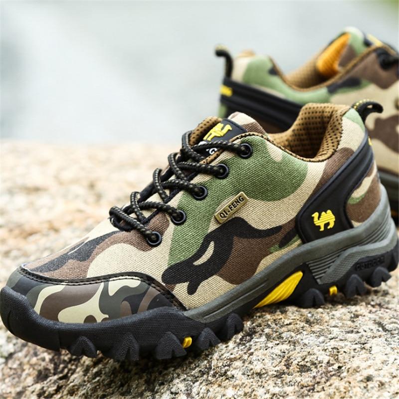 Outdoor Climbing Shoes Men 2017 Brand Casual Walking shoes Canvas shoes Non-slip Camouflage Size 39-44 Calzado deportivo hombres<br><br>Aliexpress