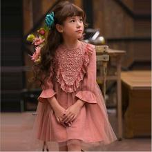 hot sale baby girl rosette dress toddler girl wedding dress children fairy tale flower dress party costume For halloween