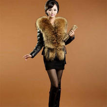 2017 Autumn Winter Women's Fashionable New Haining Short Style Imitation Fur Coat Raccoon Fur  Sheep Leather High End  Coat