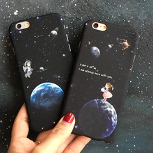 Stars and Moon Girl Cute Phone Cases For Apple iPhone 5 5s 5SE 6 6s 6plus 6splus i6 i6s 7 7plus brand pc plastic shell casing(China)