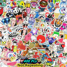400 Pcs Mixed Funny Cartoon Stickers for Phone Skateboard Luggage Car Styling DIY Decals Laptop JDM Doodle Decoration Sticker