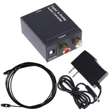 Digital to Analog L/R SPDIF Coaxial Coax RCA & Optical Toslink Audio Converter wholesale new arrival(China)