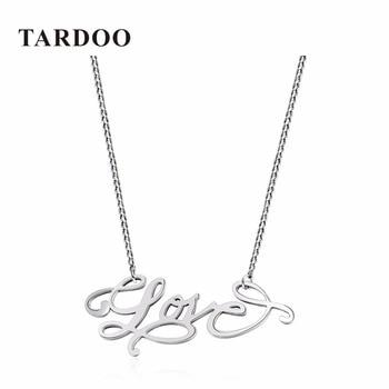 """TARDOO Marca Real 925 Plata Esterlina Collar Romántico para Las Mujeres Populares """"LOVE"""" Carta Colgante Collar Verdadero de La Joyería Fina"""