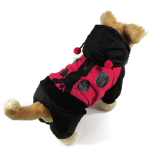Dog clothes ladybug Design windbreaker clothes for dogs Coats and Jackets Cosplay outfit hoodie chihuahua clothes(China)