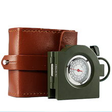 62 Type Outdoor Military Compass with Directional Genuine Cow Leather Compass Military Army Outdoor Camping Equipment Hiking