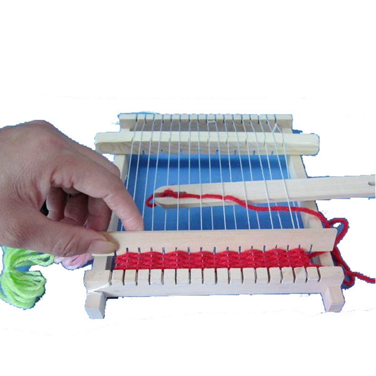 JX-LCLYL Traditional Wooden Knitting Weaving Toy Loom With Accessories Children Craft Box