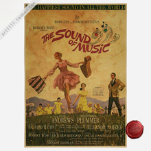 Wall Stickers Adesivo De Parede Sound Of Music Movie Poster Retro Craft Paper Bar Cafe Decorative Paintings Classic Vintage