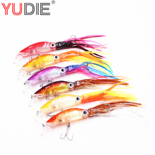 6Pcs/Lot 6 Color Crank swings Swimming Octopus Squid Bait 17cm 18.5g Artificial hard bait tuna Favorite tools Allure(China)