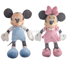 Minnie Mickey Plush Toy Stuffed Animals 50cm 20'' Pink Blue Soft Doll Baby Kids Toys for Children Girls Gifts
