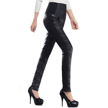 Women Pants Trousers Winter High Waisted Outer Wear Women female Fashion Slim Warm Thick Duck Down Pants Trousers skinny SUN67