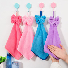 1PCS Candy Color Soft Microfiber Kitchen Hand Towel Folding Hanging Bathroom Bath Towel -30(China)