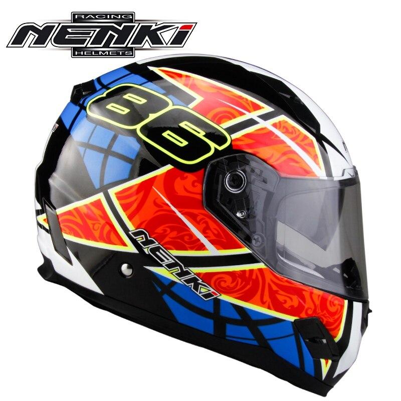 Double Lens Motorcycle Full Face Helmet  Motor Bike Casque Racing Casco NENKI 856<br><br>Aliexpress