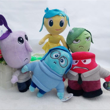 5pcs/lot latest Pixar Movie Inside Out Plush Toys Stuffed Doll Anger Joy Fear Disgust And Sadness Peluches Kids Gift baby toys(China)