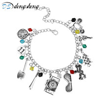 dongsheng Fashion Movie Jewelry STRANGER THINGS Charm Boho Bracelet Fashion Crystal Glass Beads Bracelets Wristlet Bangles-25(China)