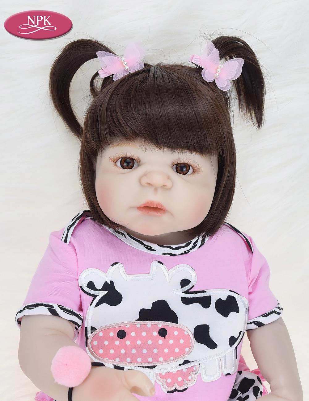 NPK Real 57CM Full Body SIlicone Girl Reborn Babies Doll Bath Toy Lifelike Newborn Princess Baby Doll Bonecas Bebe Reborn Menina (16)