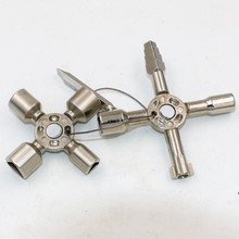 10 In 1 Multi-function Electric Control Cabinet Triangle Key Wrench Elevator Door Valve Cross2017 Rushed New Arrival Ratchet(China)