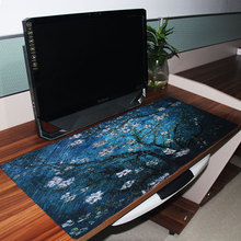 895*395mm Blue Floral Extended Gaming Mouse Pad Super Oversize Desk Mat Big Size Game Mouse Pad for Laptop Computer Tablet PC