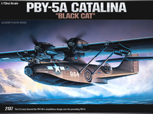 "ACADEMY 12487 1/72 Scale PBY-5A CATALINA ""Black Cat"" Plastic Model Building Kit"