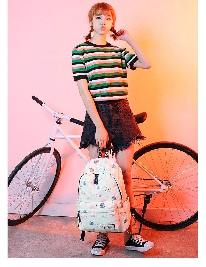 WINNER Fashion Backpack Flamingos Cute School Bags For Adolescent Girls Travel Rucksacks Laptop Mochilas Mujer 2018 (9)