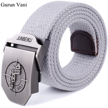 2017 New Arrival Men's Canvas Belt Pistol Buckle Military Belt Army Tactical Belts For Male Top Quality Men Strap Free Shipping