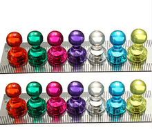 Strong Colored Magnetic Thumbtacks Neodymium Noticeboard Skittle Pin Magnets DIY Fridge Whiteboard Random Color 10 pcs