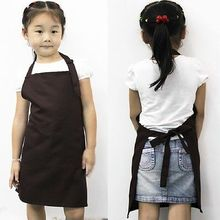 Cute Children Plain Apron Kids Kitchen Cooking Accessory Candy Color Child Baking Apron Baby Painting Bib(China)