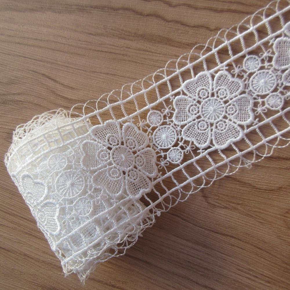 3Yard 5cm Wide Black Flower Lace Trim Sew Wedding Clothes Applique Craft