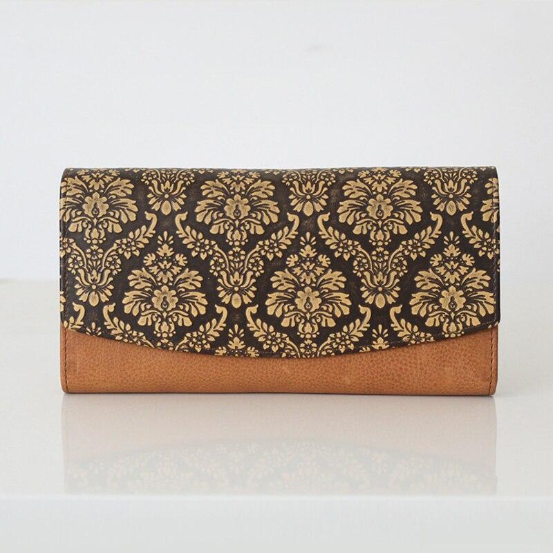 Luxury women wallet long size clutch simplicity european flowers embroidery press fashion wallet<br><br>Aliexpress