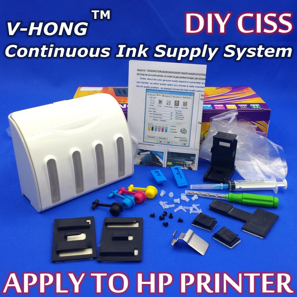CISS ink tank for DIY kit with accessories (Empty no ink without cartridge) Continuous Ink Supply System for hp K<br><br>Aliexpress