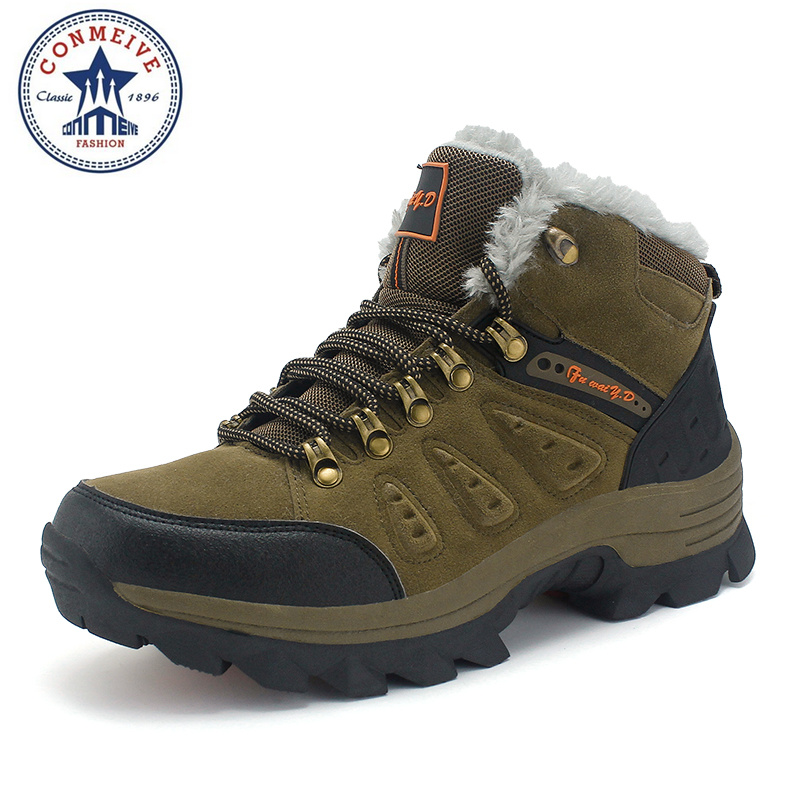 limited hiking shoes trekking outdoor sapatilhas camping climbing boots waterproof winter warm hunting men medium(b,m) rubber<br>
