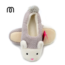 Millffy cute little bunny Pregnant women shoes winter warm slipper pineapple grain home coral velvet shoes slippers women(China)