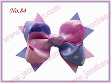 free shipping 130pcs good girl costume boutique 4.5'' two tone leaves -A hair bows clips girl hair clippie(China)