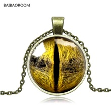 Foreign trade jewelry wholesale retro exaggerated time gem Dragon eyes animal Eye necklace