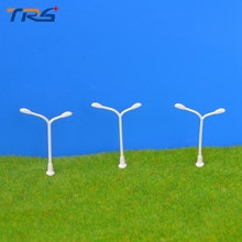 Lamppost Model 100Pcs 1:500 Plastic Streets Lamp Model making Model Light Model Toys Railway Street Light