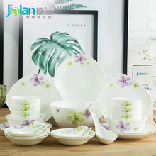 China tableware bowl garland 6 household Chinese fresh and simple personality ceramic dishes Suite