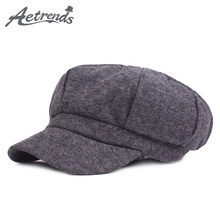 [AETRENDS] 2017 New Winter Classic Octagonal Hats for Men or Women Striped Newsboy Berets Caps Z-6040()