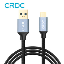 Buy CRDC Type C USB 3.0 Cable 1-3m Braid Quick Charge Fast Data Sync Charge Adapter Charging Mobile Phone Cable Samsung Galaxy 8 for $4.70 in AliExpress store