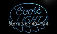 LE199- Coors Beer Cap Bar Pub NEW LED Neon Light Sign