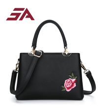 2017 Women Bag Pu Leather Tote Brand Name Bag Ladies A Flowered Handbag 2017 Woman Crossbody Bags Handbags Women Famous Brands(China)
