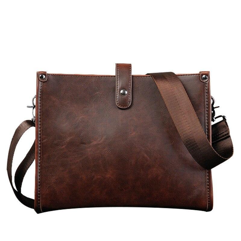 Original design mens fashion minimalist style men bag shoulder bag high quality vintage Crazy Horse leather messenger bag<br><br>Aliexpress