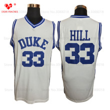 Wholesale Mens Cheap Throwback Basketball Jerseys #33 Grant Hill Jersey Duke University Stitched Basketball Shirts Blue White(China)