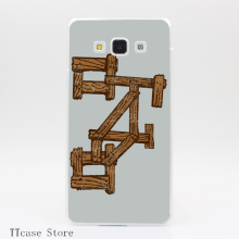 4120CA Wood Bike Transparent Hard Cover Case for Galaxy A3 A5 A7 A8 Note 2 3 4 5 J5 J7 Grand 2 & Prime